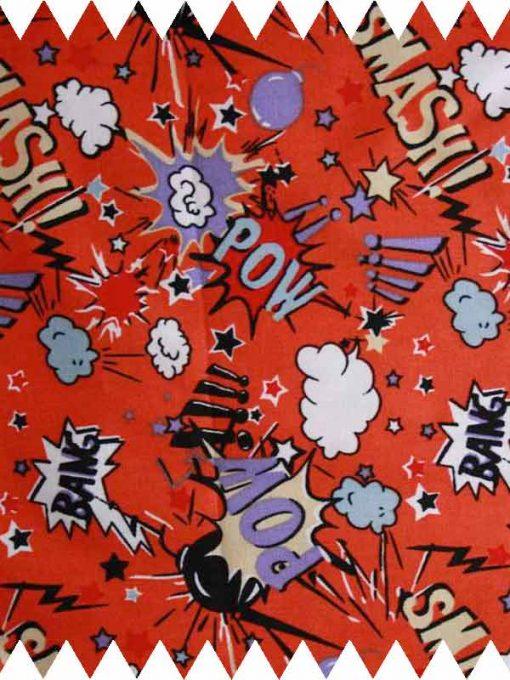 Smash Bang Pow Red-Cotton