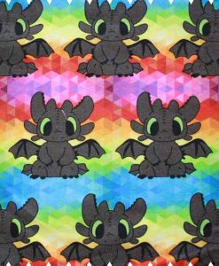 Toothless Rainbow Cotton Jersey
