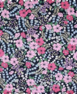 Flowers-on-Navy-Cotton