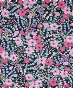 Flowers-on-Navy-Cotton