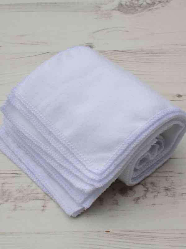 Value White Cotton flannel - Family cloth - Set of 9 | Luna Landings