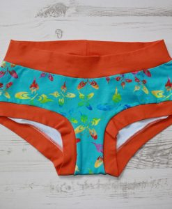 Knickers-Boy-Shorts-Rainbow-Butterflies-Orange-Band-Front