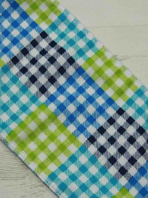 Blue Checked – Family cloth – Set of 9
