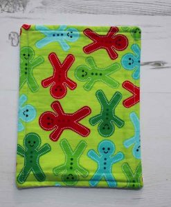 Christmas Bright Gingerbread Men Baby wipe 1