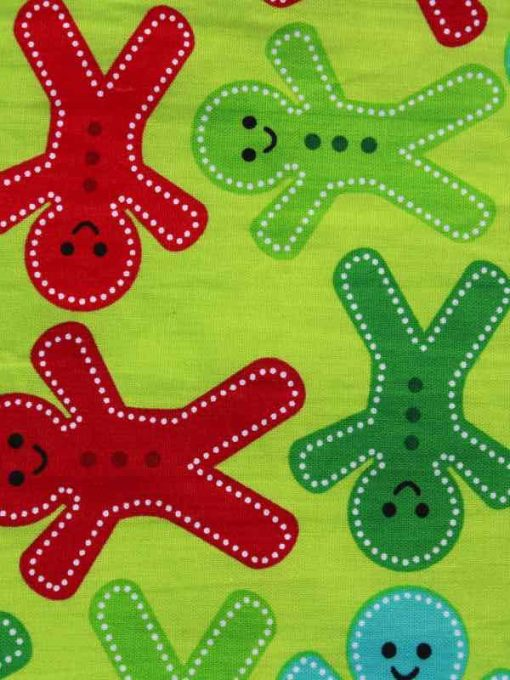 Christmas Bright Gingerbread Men Baby wipe
