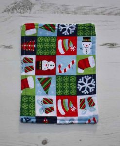 Christmas Festive Checkerboard Baby wipe 1