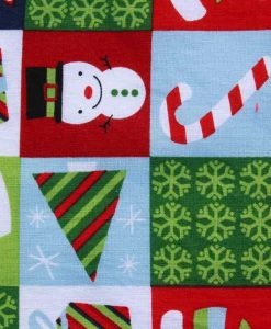 Christmas Festive Checkerboard Baby wipe 2