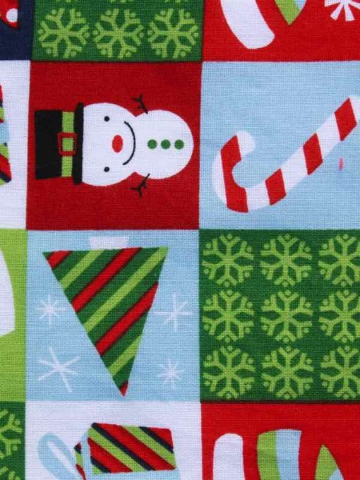 Christmas Festive Checkerboard Baby wipe
