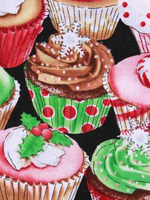 Christmas Glitter Cupcakes Baby wipe