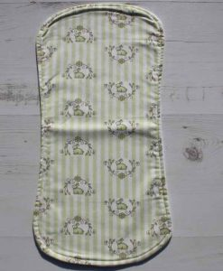 Bunny Candy Stripe Burp Cloth 1