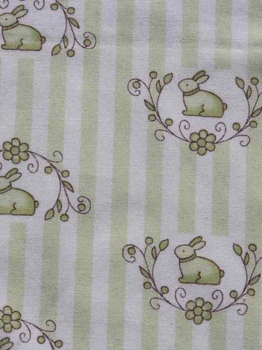 Bunny Candy Stripe Burp Cloth