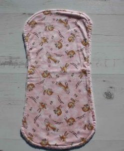 Bunny Love Burp Cloth 1