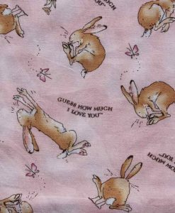 Bunny Love Burp Cloth 2