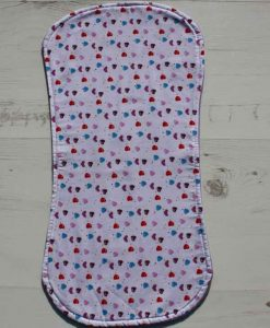 Love Hearts Burp Cloth 1