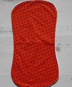 Orange with Pink Dots Burp Cloth 1