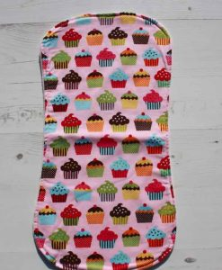 Pink Cupcakes Burp Cloth 1