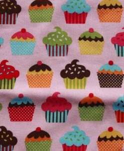 Pink Cupcakes Burp Cloth 2