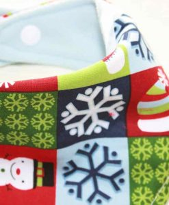 Christmas Festive Checkerboard Cotton Dribble Bib 2