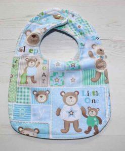Baby Bear Cotton Rear Snap Bib 1