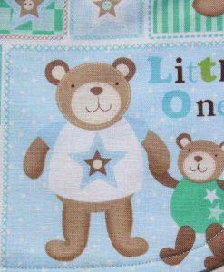Baby Bear Cotton Rear Snap Bib 2