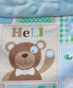 Baby Bear Cotton Dimple Plush Splice Rear Snap Bib 2