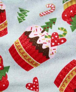 Christmas Cupcakes Cotton Rear Snap Bib 2