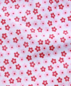 Pink Flowers Cotton Rear Snap Bib 2