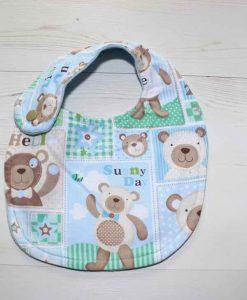 Baby Bear Cotton Side Snap Bib 1