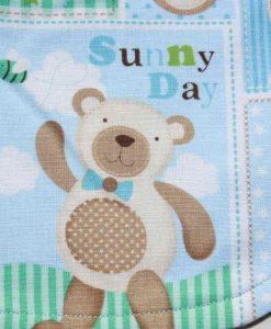 Baby Bear Cotton Side Snap Bib 2