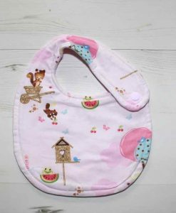 Forest Friends Cotton Side Snap Bib 1
