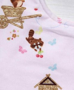 Forest Friends Cotton Side Snap Bib