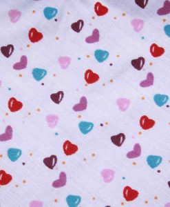Love Hearts Cotton Side Snap Bib 2
