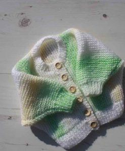 Lemon and Lime Tie-Dye Cardigan – 0-3 months