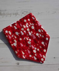 Graphic Christmas Forest Red Dribble Bib