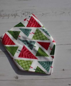 Graphic Christmas Trees Dribble Bib