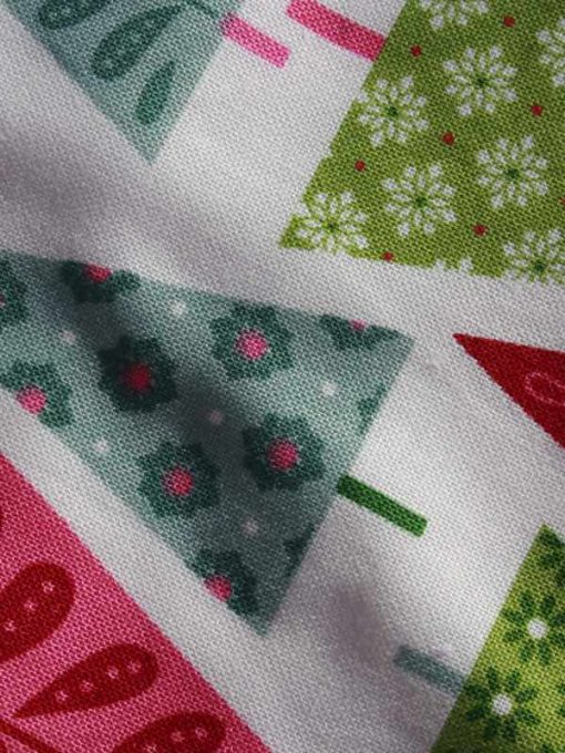 Graphic Christmas Trees Dribble Bib