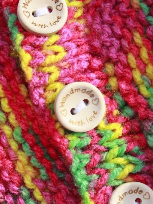 Inca Tie-Dye Cardigan – 0-3 months