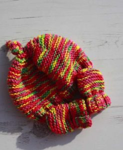 Inca Tie-Dye Hat and Mittens – 0-3 months