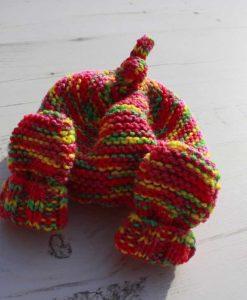 Inca Tie-Dye Hat and Mittens – 0-3 months