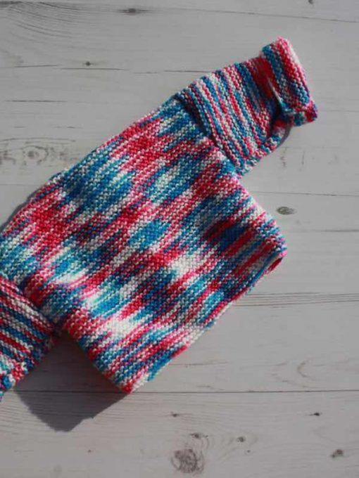 Raspberry Ripple Tie-Dye Cardigan – Newborn
