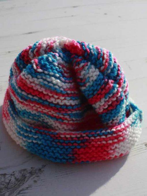Raspberry Ripple Tie-Dye Hat – 0-3 months