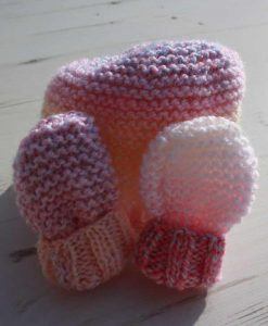 Pretty Pastels Tie-Dye Hat and Mittens – 0-3 months
