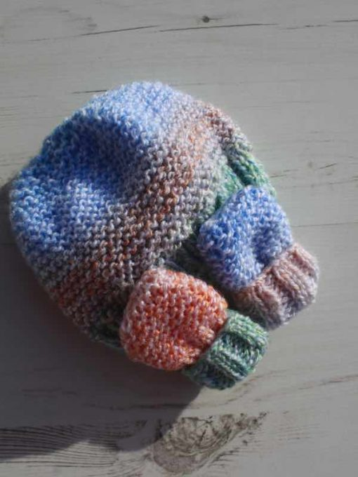 Candy Tie-Dye Hat and Mittens – 0-3 months