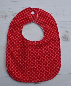 Snowflakes Cotton Rear Snap Bib