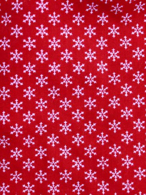Snowflakes Cotton Rear Snap Bib