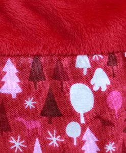 Graphic Christmas Trees Red Splice Cotton Rear Snap Bib