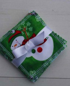 Snowman Reusable Make-up remover wipes – set of 5