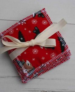 Festive Foxes Reusable Make-up remover wipes – set of 5