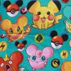 Pokemon on Green Cotton Jersey