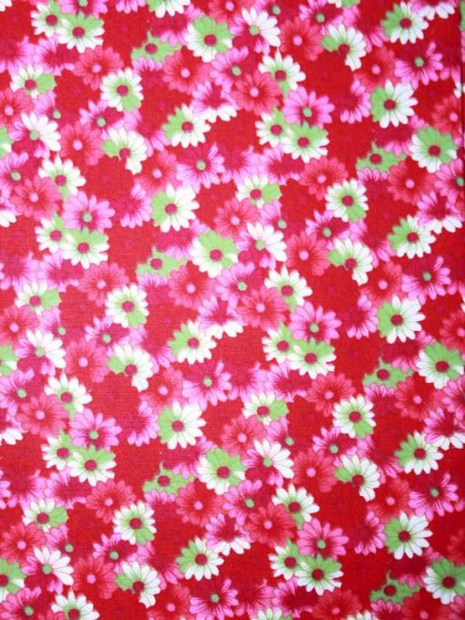 Red Pink and Green Flowers 1